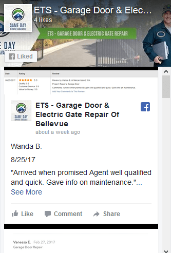 ETS Garage Door U0026 Gate Repair Of Bellevue Facebook